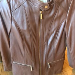 Gorgeous buttery-soft Michael Kors leather jacket